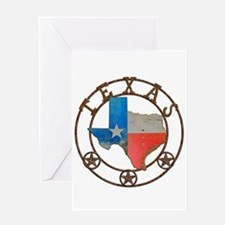 Texas Wrought Iron Barn Art Greeting Cards