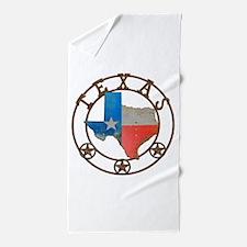 Texas Wrought Iron Barn Art Beach Towel