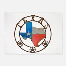 Texas Wrought Iron Barn Art 5'x7'Area Rug