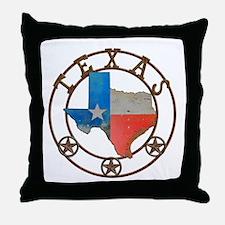 Texas Wrought Iron Barn Art Throw Pillow