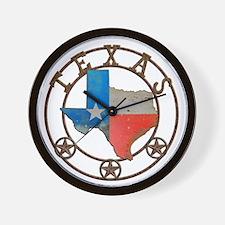 Texas Wrought Iron Barn Art Wall Clock