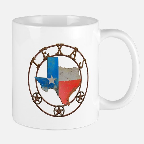 Texas Wrought Iron Barn Art Mugs