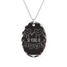 50th Anniversary Gift Chalkboa Necklace