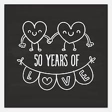 50th Anniversary Gift Chalk Invitations