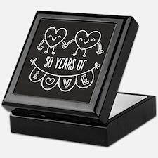 50th Anniversary Gift Chalkboard Hear Keepsake Box