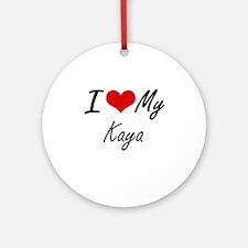 I love my Kaya Round Ornament