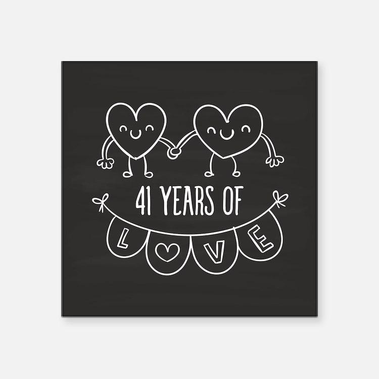 29 Year Wedding Anniversary Gift: 41St Wedding Anniversary 41st Wedding Anniversary Stickers
