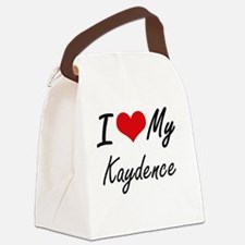 Unique Kaydence Canvas Lunch Bag