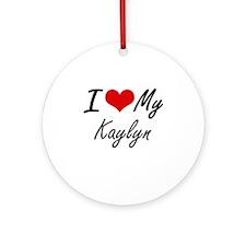 I love my Kaylyn Round Ornament