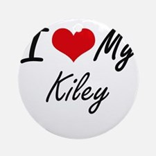 I love my Kiley Round Ornament