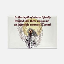 Winter Pagan Goddess Rectangle Magnet