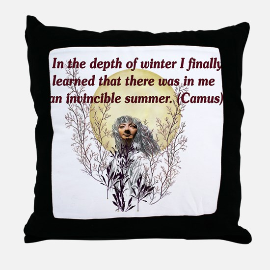 Winter Pagan Goddess Throw Pillow