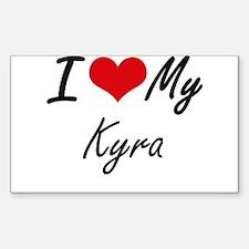 I love my Kyra Decal