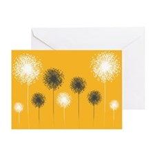 Modern Dandelion Art Greeting Card