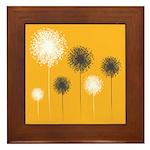 Modern Dandelion Art Framed Tile