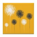 Modern Dandelion Art Tile Drink Coaster