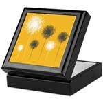 Modern Dandelion Art Keepsake Box