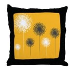 Modern Dandelion Art Throw Pillow