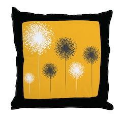 Modern Dandelion Art Throw Pillow