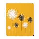 Modern Dandelion Art Mousepad