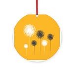 Modern Dandelion Art Ornament (Round)
