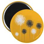 """Modern Dandelion Art 2.25"""" Magnet (10 pack)"""