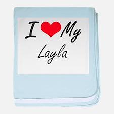 I love my Layla baby blanket
