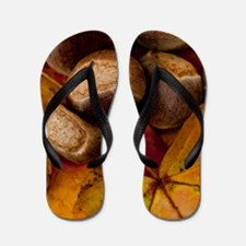 Fall Leaves Flip Flops