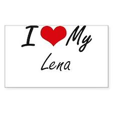 I love my Lena Decal