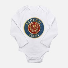 Cute Federal agent Long Sleeve Infant Bodysuit
