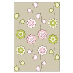 Pink & Green Retro Floral Posters