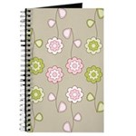 Pink & Green Retro Floral Journal