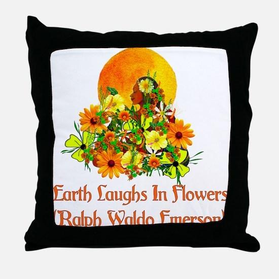 Summer Pagan Goddess Throw Pillow