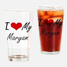 Funny Maryam Drinking Glass
