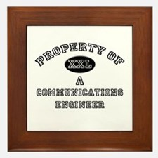 Property of a Communications Engineer Framed Tile
