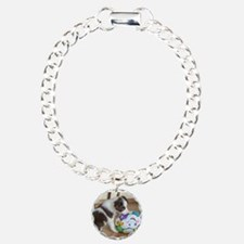 Cute Border collie Charm Bracelet, One Charm