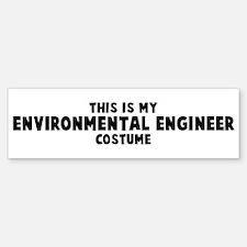 Environmental Engineer costum Bumper Bumper Bumper Sticker