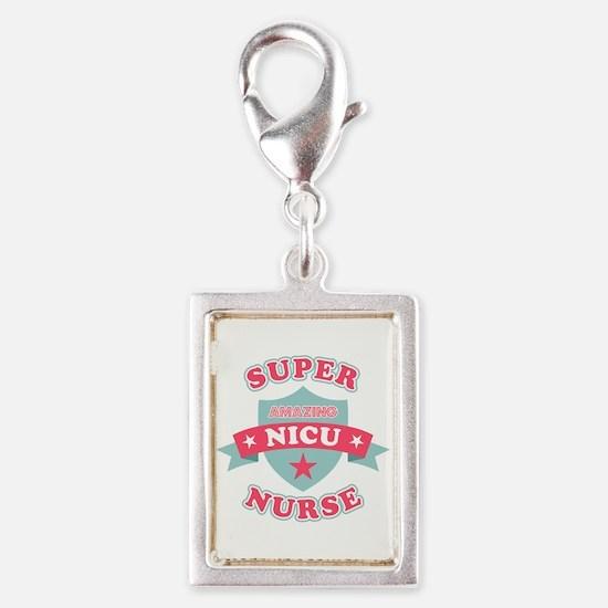 Super NICU Nurse Silver Portrait Charm