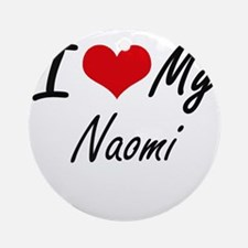 I love my Naomi Round Ornament