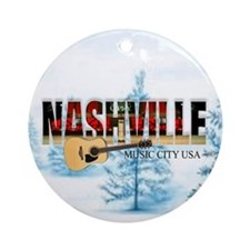 Nashville Music City-CO-03 Round Ornament