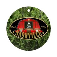 I Love Nashville-04 Round Ornament