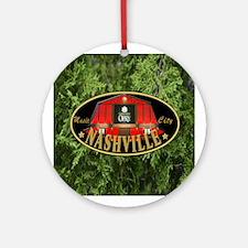 I Love Nashville-04 Round Ornament