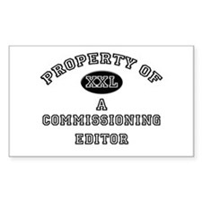 Property of a Commissioning Editor Decal