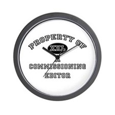 Property of a Commissioning Editor Wall Clock