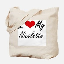 Funny Nicolette Tote Bag