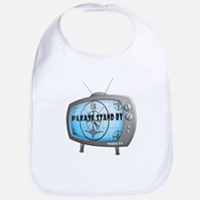 Please Stand By TV Bib