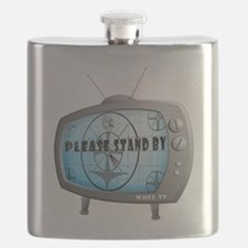 Please Stand By Test Pattern TV Flask