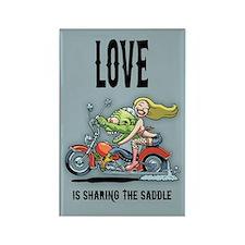 Love Saddle Rectangle Magnet