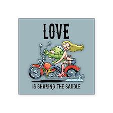 "Love Saddle Square Sticker 3"" x 3"""