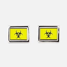 Biohazard Rectangular Cufflinks